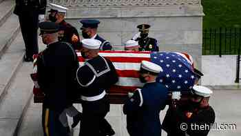 Capitol Police officer killed in car attack lies in honor in Capitol Rotunda