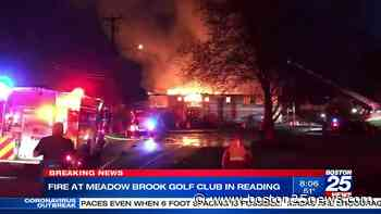 Reading golf clubhouse destroyed by fire for the second time - Boston 25 News