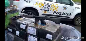 Polícia Rodoviária apreende meia tonelada de droga, fuzil e munições em Itatinga - G1
