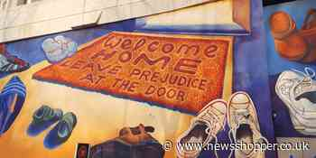 Lewisham Shopping Centre transformed by colourful mural inspired by migration - News Shopper