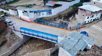 Cajamarca: invierten S/ 3,6 millones en puente Los Ingenieros en Cajabamba - LaRepública.pe