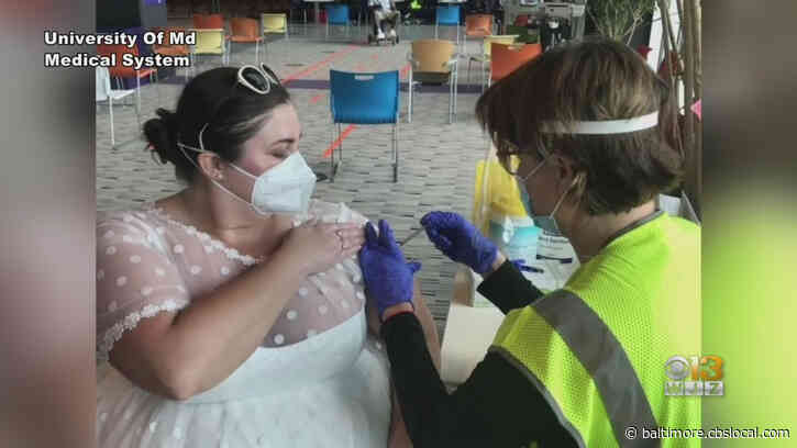 'For Me, It Was A Celebration'   Maryland Woman Wears Wedding Dress To Get Vaccinated