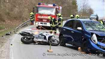 Tödlicher Unfall bei Blaustein: Motorradfahrer kracht in Gegenverkehr - Augsburger Allgemeine