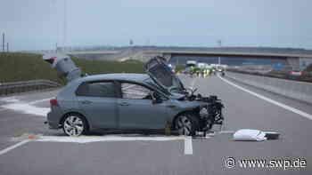 Unfall Autobahn Dornstadt: Einem Tier ausgewichen: A 8 nach Unfall gesperrt - SWP