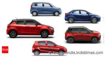 Swift to Alto, Maruti Suzuki's top 5 put on undisputed show in FY20-21 - Times of India