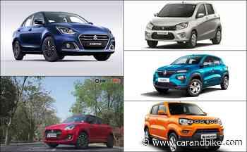 Top 5 Most Fuel Efficient Petrol Automatic Cars Below Rs. 10 Lakh - carandbike