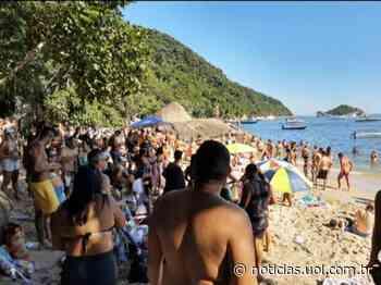 Vídeo mostra aglomeração em praia do Guaruja (SP) - UOL Notícias