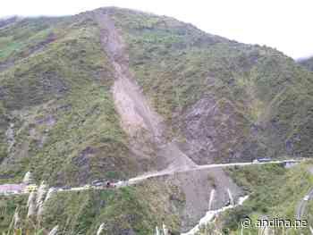 Atención transportistas: deslizamiento interrumpe tránsito en la carretera Tarma-La Merced - Agencia Andina