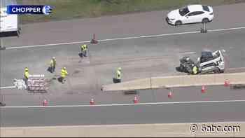 Possible sinkhole on I-76 causes traffic headache near King of Prussia, Pa. - WPVI-TV