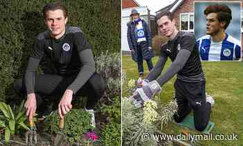 Wigan defender Tom Pearce swaps the pitch for plants to help a lifelong fan