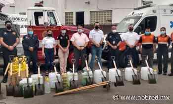 Recibe protección civil de General Escobedo y Bomberos equipo para combatir incendios - Notired Nuevo Leon