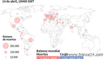 Balance mundial de la pandemia de coronavirus el 14 de abril a las 10H00 GMT - FRANCE 24