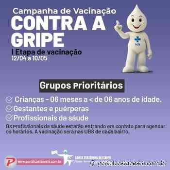 Santa Terezinha de Itaipu inicia campanha de vacinação contra a gripe - Portal Costa Oeste