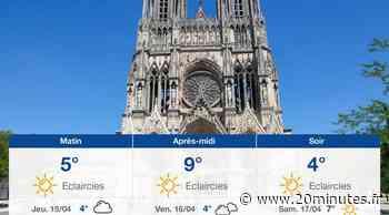 Météo Reims: Prévisions du mercredi 14 avril 2021 - 20minutes.fr