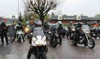 VIDÉO. Une vingtaine de motards de l'Orne est partie d'Argentan manifester à Caen contre le contrôle technique - actu.fr