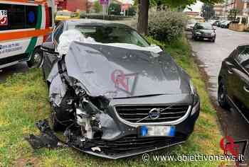 BORGARO TORINESE – Incidente in via XX Settembre angolo strada Lanzo, un ferito (FOTO) - ObiettivoNews