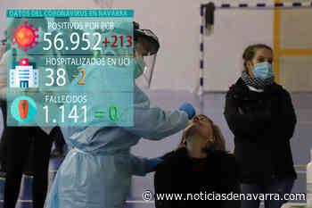 Coronavirus en Navarra: 213 casos más en un día sin muertes en el que se superaron los 200 ingresados - Noticias de Navarra