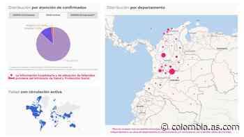 Mapa de casos y muertes por coronavirus por departamentos en Colombia: hoy, 14 de abril - AS Colombia