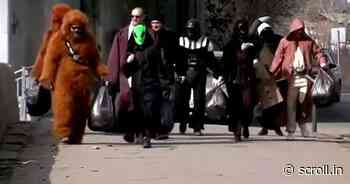 Watch: Entertainment workers dress up as 'Star Wars' characters, clean Gagarin boulevard in Siberia - Scroll.in