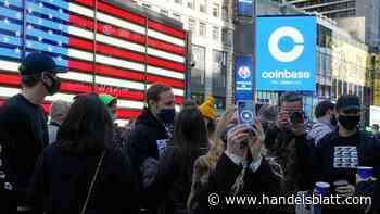 Kryptobörse: Coinbase legt zum Handelsstart um 55 Prozent zu