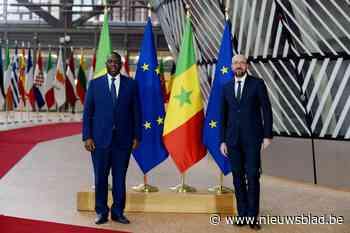 Actievoerders willen eieren naar Senegalese president gooien... (Elsene) - Het Nieuwsblad
