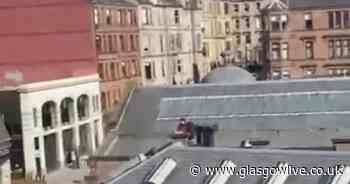 Pair playing chess on the roof in Glasgow west end go viral as neighbours admire their gumption - Glasgow Live
