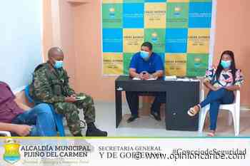 Realizado tercer consejo municipal de seguridad en Pijiño del Carmen - Opinion Caribe