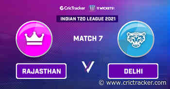 RAJ vs DEL Prediction, 11Wickets Fantasy Cricket Tips: Playing XI, Pitch Report & Injury Update – Indian T20 League 2021, Match 7 - CricTracker