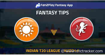 Indian T20 League 2021: Match 6 HYD vs BLR – Fan2Play Fantasy Cricket Tips, Prediction, Playing XI and Pitch Report - CricTracker