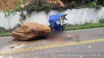 Mototaxista muere aplastado por una inmensa roca en el trayecto Tabalosos – Shanao - Diario Voces