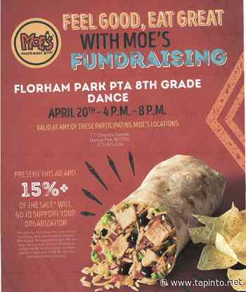 Dine Out at Moe's to Help Support Florham Park's 8th Grade Dance - TAPinto.net