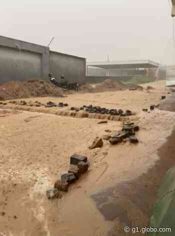 Ruas das cidades de Angelim e Arcoverde ficam alagadas após fortes chuvas - G1