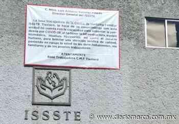 En Tlaxiaco, protestan trabajadores de clínica del ISSSTE por no recibir vacuna anti-covid - Diario Marca de Oaxaca