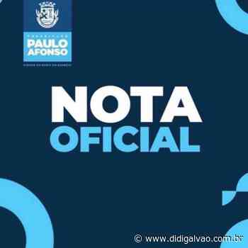 Provas dissertativas do concurso da prefeitura de Paulo Afonso estão suspensas temporariamente - Blog do Didi Galvão