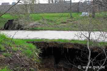 Park Den Akker Hemiksem deels afgesloten na grondverzakking - Gazet van Antwerpen