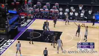 Deni Avdija with a 3-pointer vs the Sacramento Kings