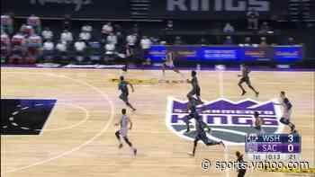 Bradley Beal with a 3-pointer vs the Sacramento Kings