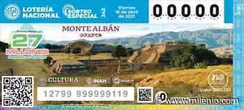 Develan billete de la Lotería Nacional alusivo a la zona arqueológica de Monte Albán - Milenio