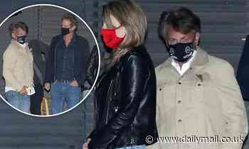 Sean Penn, 60, and his glamorous wife Leila George, 29, join Rande Gerber for dinner