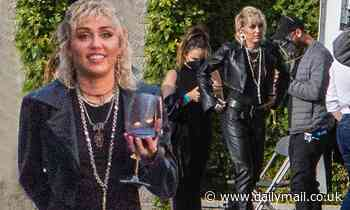 Miley Cyrus shows off her edgy sense on style in all-leather ensemble