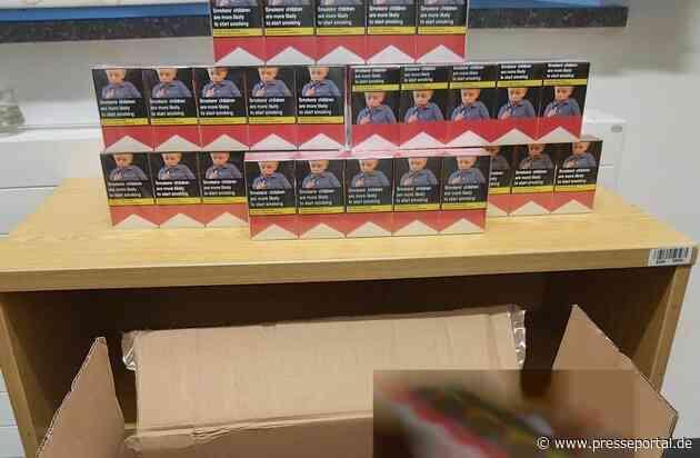 BPOL NRW: Großer Karton in kleinem Auto - Bundespolizei beschlagnahmt fast 10.000 Zigaretten