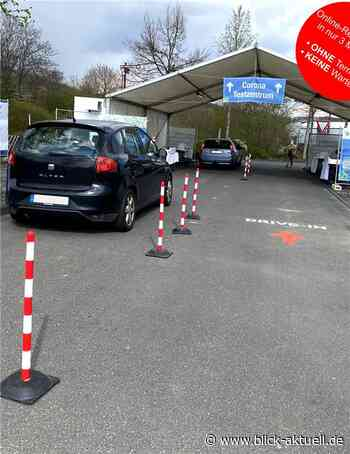Coronatest Drive-In Bad Neuenahr-Ahrweiler hinter Bauhaus - Blick aktuell