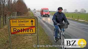 Bordstein in Rethen könnte Radfahrern gefährlich werden