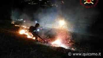 Incendio nella notte: fiamme nei boschi sopra Canzo - QuiComo
