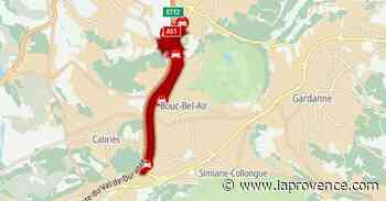 A51 : trafic complètement saturé entre Cabriès et Luynes, en direction d'Aix - La Provence