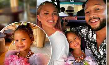 Chrissy Teigen shares snaps from Luna's 'dream birthday'... as she goes on a zombie scavenger hunt