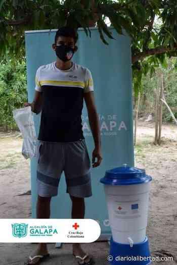 Cruz Roja y Alcaldía de Galapa entregaron 100 filtros potabilizadores y kits de bioseguridad a la comunidad - Diario La Libertad