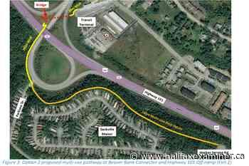 Councillors consider pedestrian bridge to fix dangerous Lower Sackville highway crossing - Halifax Examiner