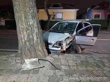 Barra de direção quebra e carro bate em árvore na Mateus Leme - Banda B - Banda B