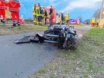 Versmolder (51) stirbt bei Verkehrsunfall: Mit Motorrad gegen Strommasten - Versmold - Westfalen-Blatt
